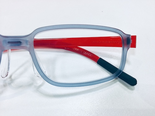 メガネ お洒落 赤 軽い スイス
