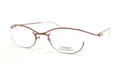 YCONCEPT 肌色メガネ オシャレ軽い メガネ女子 仕事メガネ ナース 医者メガネ 先生 公務員 強度近視メガネ